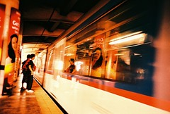 last train home (Stitch) Tags: train lomo lca xpro fuji crossing philippines velvia mrt weekly edsa mandaluyong fujivelvia100f lomomanilalca