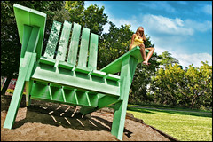 saint paul big green chair (Dan Anderson (dead camera, RIP)) Tags: park bridge sculpture west green art minnesota st project garden paul big high chair chairs north stpaul twincities saintpaul 7th mn adirondack uppertown chrishand joelsisson bohemianhill uppertowntriangle