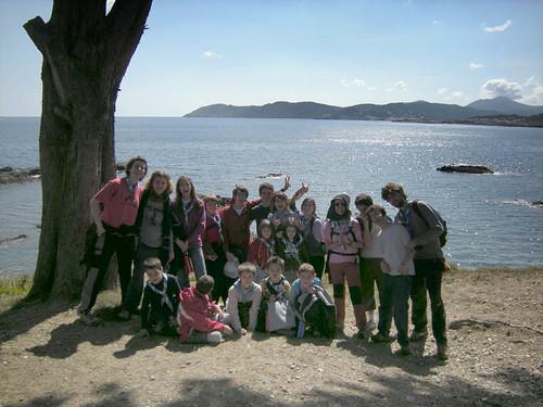 Llançà, foto de grup a la platja