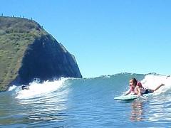 kelea ripping it (leilani&kelea) Tags: waipio valleysurfing