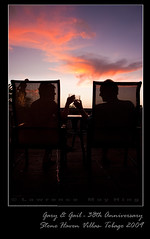Gary & Gail 38th Anniversary (dachinster) Tags: birthday sunset silhouette glasses couple anniversary toast romance romantic tobago elderlycouple dpssilhouettes