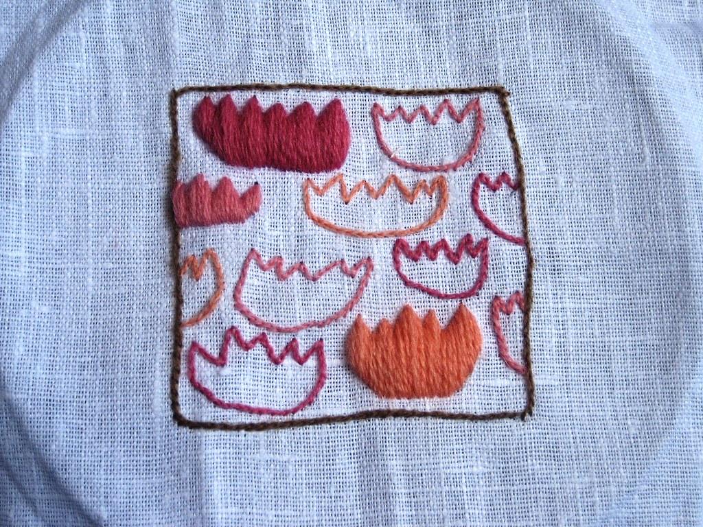 Crewel Embroidery Tulips