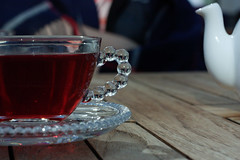 fruit tea (sunniest) Tags: autumn cup table relax tea russia plate olgino