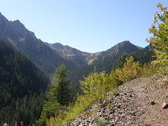 Final views before entering woods for good on Marmot Pass trail.