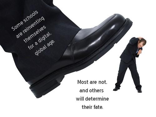 Shoe squishing a school administrator?