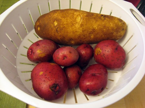 Uncut Russet and Red Potatoes