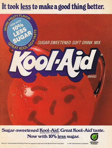 early 80's Sugar Sweetened Kool Aid ad