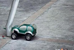 Duracell Battery Powered Car Hits Pole