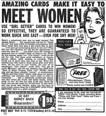 meet-women (x-ray delta one) Tags: vintage magazine ads advertising suburban ad suburbia retro nostalgia 1940s 1950s americana 1960s atomic populuxe housewife coldwar popularscience popularmechanics magazineillustration