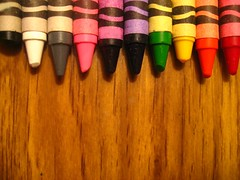 lets color. (K80!) Tags: wood pink blue red orange white black green colors yellow grey rainbow purple sharp coloring crayons crayon crayola