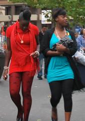 Lady in red? (Ibrahim D Photography) Tags: girls black walking nikon women candid ebony reddress d60 nikond60 cmwdred