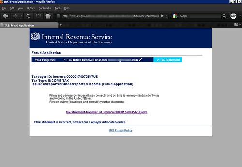 Fake IRS Notification