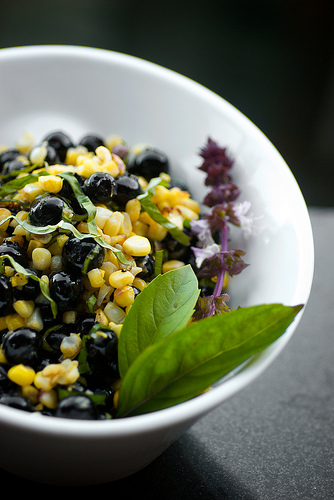 Grilled Corn and Blueberry Salad @ Houseboat Eats by Talley Lambert