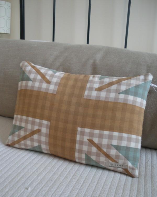 Union Jack cushion gingham
