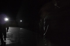 Dark (Che-burashka) Tags: people london dark walking modernart silhouettes tatemodern turbinhall howitis newinstallation miroslawbalka lx3 attheendgeofdarkness howtotakephotooftotaldarkness