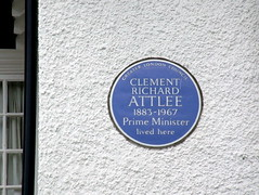 Photo of Clement Attlee blue plaque
