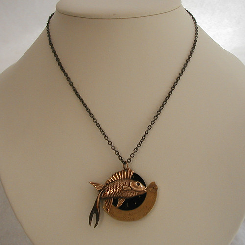 Reel Time - Steampunk Necklace