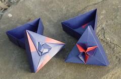 Dreieckschachtel von Tomoko Fuse - Variationen (Tagfalter) Tags: origami box tomokofuse