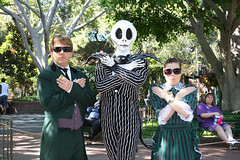 Jack and his Hosts (briberry) Tags: christmas lauren jack joshua disneyland before disney haunted host nightmare mansion skellington