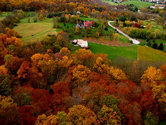 Bonker Fall Colors - Picture Taken from a Kite Over Chester Springs with Fall Colors All Round - Enjoy. (Wind Watcher) Tags: kite color fall leaves chester springs kap kiteaerialphotography dopero windwatcher chdk