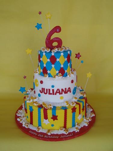 Phenomenal Carnival Circus Themed Birthday Cake A Photo On Flickriver Funny Birthday Cards Online Elaedamsfinfo