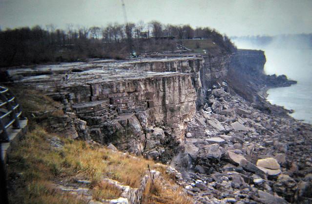 Dewatered Niagara Falls