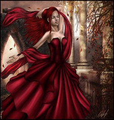 My scarlet name ( Venena ) Tags: art fall leaves rain wind gothic sim sims autuml simart venena