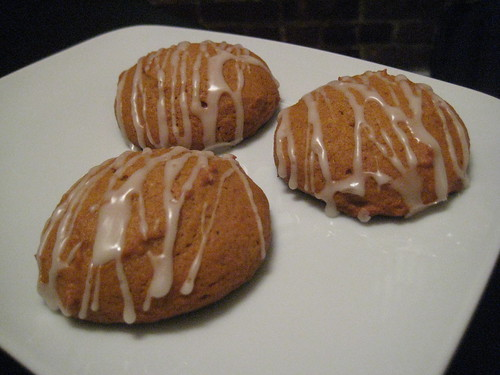 Spiced Pumpkin Cookies with Maple Icing