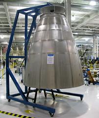 Falcon 9 Second Stage Nozzle (jurvetson) Tags: stage 9 upper falcon rocket f9 nozzle manufacturing niobium spacex falcon9