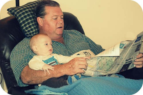 H and Dad reading the paper