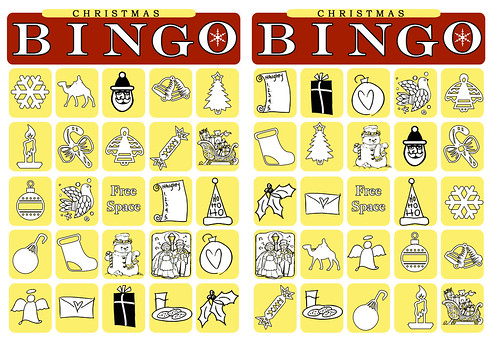 christmas bingo cards 1
