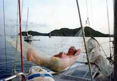 870503 Sandy's New Shorts (rona.h) Tags: 1987 sandy may caroline bob elaine virginislands cloudnine ronah