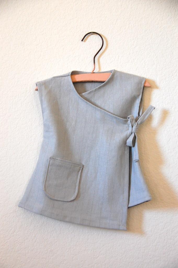 linen baby wrap dress