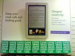 Eating Animals & Nook display at B&N