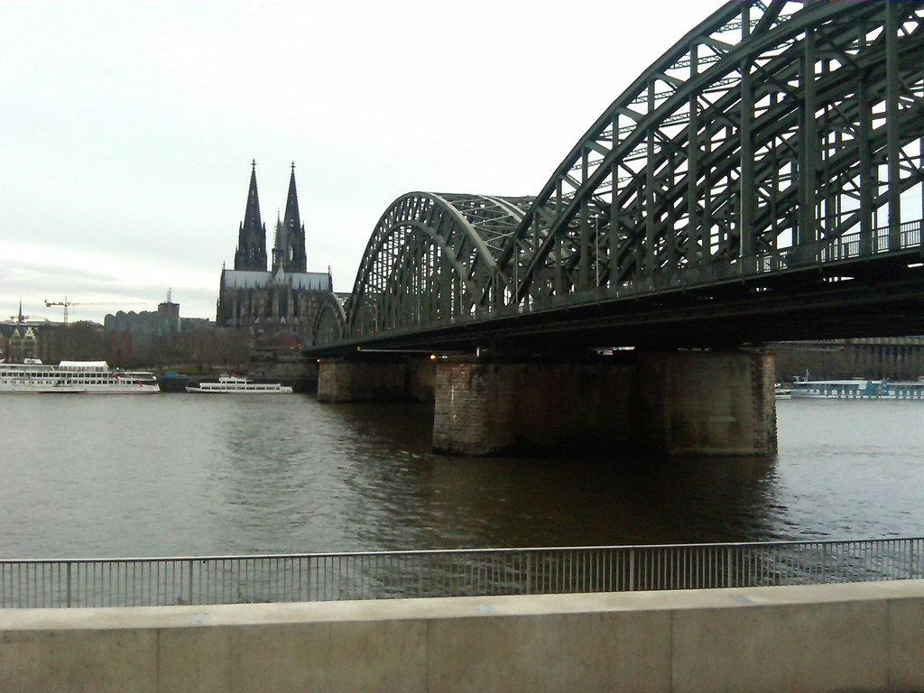 The Bridge near the cathedral Cologne