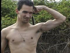 Gabe1 (Bivolari) Tags: muscles posing biceps flexing