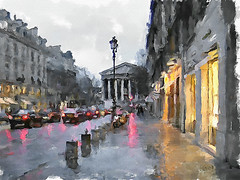 Bad weather on the street Royal, Paris (piker77) Tags: urban painterly paris france art digital photoshop watercolor painting interesting media natural aquarelle digitale manipulation simulation peinture illusion virtual watercolour transparent acuarela tablet technique wacom stylized pintura imitation  aquarela aquarell emulation malerei pittura virtuale virtuel naturalmedia    piker77wc arthystorybrush
