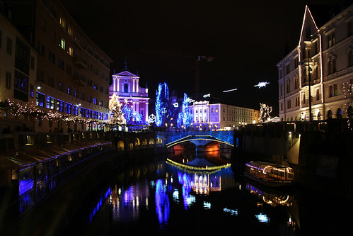 christmas lights in ljubljana