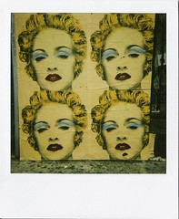 Madonna (Nick Leonard) Tags: california woman art film lady analog polaroid losangeles artwork artist madonna nick scan sidewalk popart melrose singer blondehair legend madge expiredfilm instantfilm polaroid779 polaroidsun600 779film polaroidfilm sharethelove polaroid779film type779 integralfilm nickleonard instantsatisfaction savepolaroid polapremium