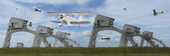 Fly By (Harvey Schiller - chateauglenunga) Tags: photoshop flight competition structure planes week weekly aeroplanes 173 aricraft walravensky