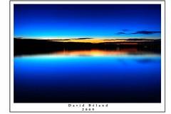 """L o il y a du bouleau"" (David Bland) Tags: blue sunset sky water nikon eau ciel 1855mm bleue couchdesoleil longueexposition baiecomeau longexposition d80 davidbland"