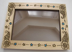 Small Henna Photo Frame (Henna Sooq) Tags: wood art glitter henna mehndi nonbody
