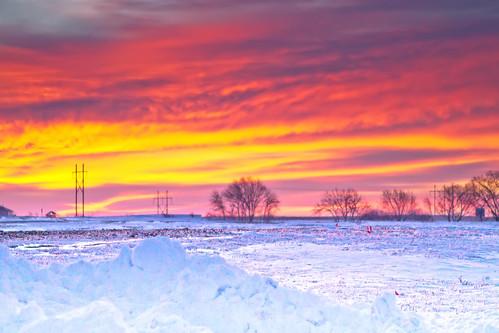 Snow Covered Sunrise