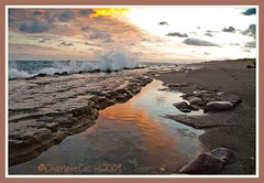Kingston: Cloud Reflections (Charlene Collins.still charlene) Tags: sunset clouds reflections kingston jamaica caribbeansea portroyal palisados
