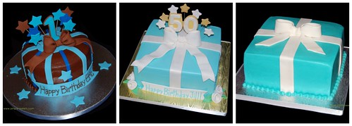 50th Birthday Package Cake inspirations