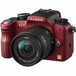 Câmera Digital Panasonic DMC-G1 Vermelha 13.1 MegaPixel