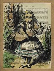 Alice And The Pig Vintage Book Page Print (ARWDesigns) Tags: art vintage children pig fantasy storybook alicewonderland etsyartist