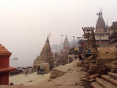 . (Art Peace) Tags: india river temple cricket varanasi ganga ganges pradesh ghats banaras uttar