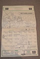 Vintage Australian McDonalds Ronald McDonald 1983 Colouring Calendar (jadedoz) Tags: netherlands vintage ronald calendar australia mcdonalds 80s coloring 1983 1980s colouring mcdonald