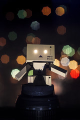 Creative Lighting Experiment (my1984vw) Tags: 18 backlight bokeh creativelight danbo dormroom primelens product robot toys